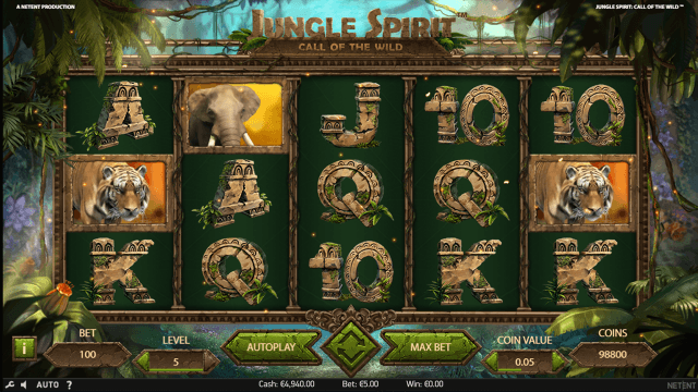Характеристики слота Jungle Spirit: Call Of The Wild 6