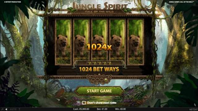 Характеристики слота Jungle Spirit: Call Of The Wild 1
