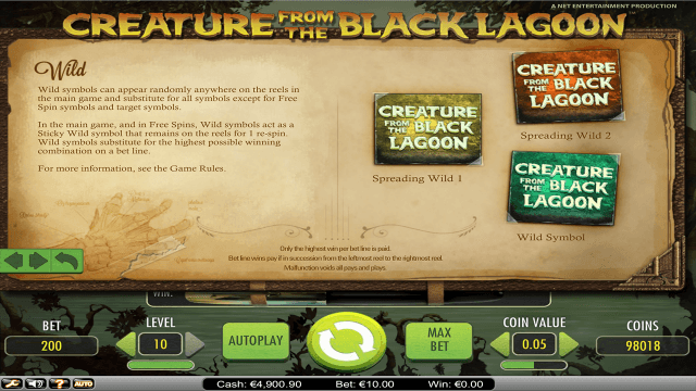 Бонусная игра Creature From The Black Lagoon 4